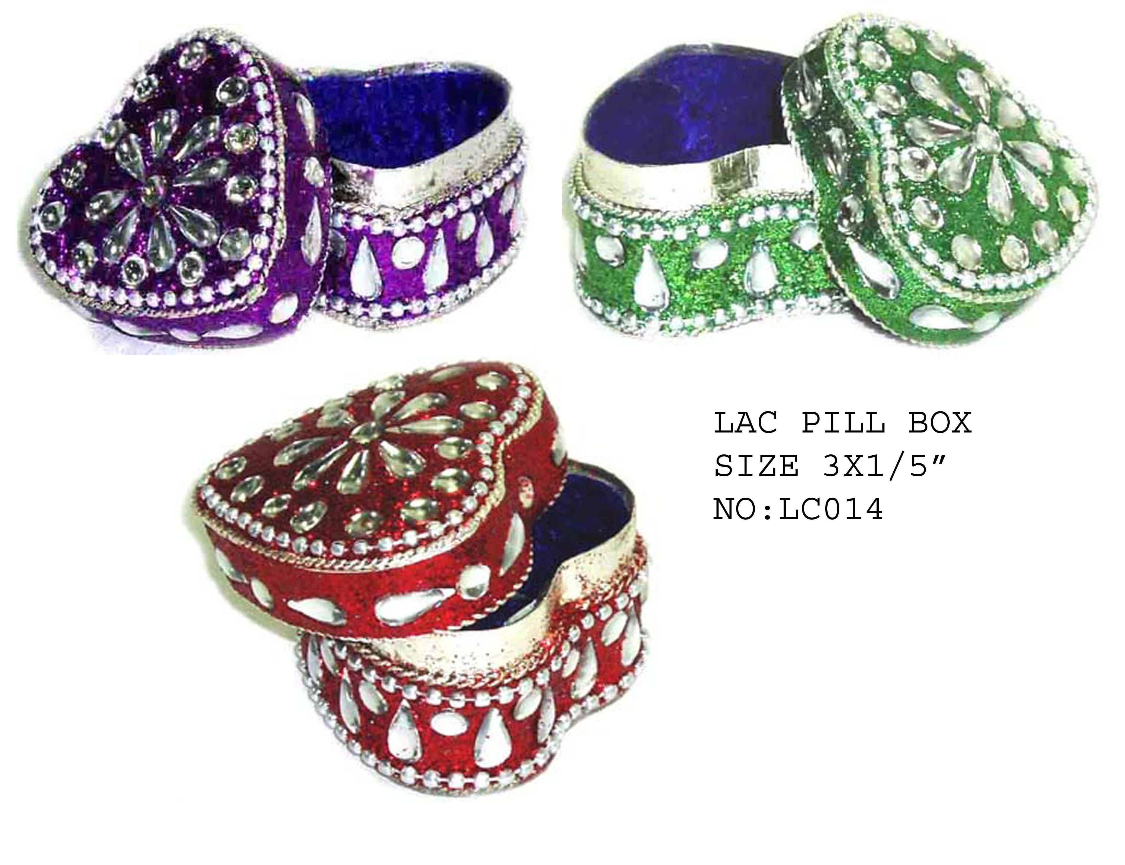 Lac Pill Box Mugal Art Glass Manufacturer Supplier