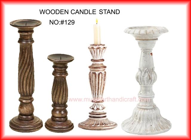 Wooden Candle Stands Mugal Art Glass Manufacturer
